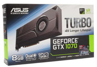 Видеокарта Asus GeForce GTX 1070 TURBO [TURBO-GTX1070-8G]