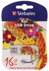 Память USB Flash Verbatim Tattoo Edition «Карп Кои» 16 Гб