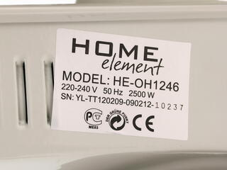 Масляный радиатор Home Element HE-OH1246 белый