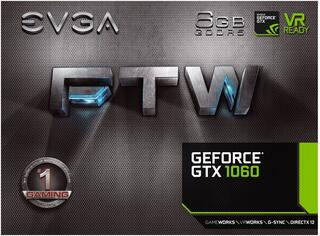 Видеокарта EVGA GeForce GTX 1060 FTW GAMING ACX 3.0 [06G-P4-6268-KR]