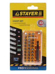 "Набор бит STAYER ""MASTER"" CAMP 33 2-26083-H33"