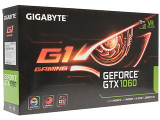 Видеокарта GIGABYTE GeForce GTX 1060 G1 GAMING [GV-N1060G1 GAMING-3GD]