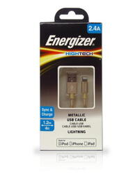 Кабель Energizer Hightech USB - Apple 8-pin золотистый