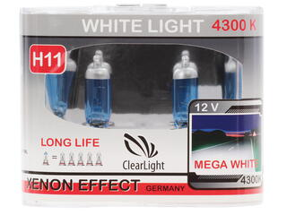 Галогеновая лампа ClearLight H11 WhiteLight