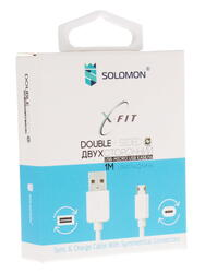 Кабель Solomon X-Fit USB - micro USB белый