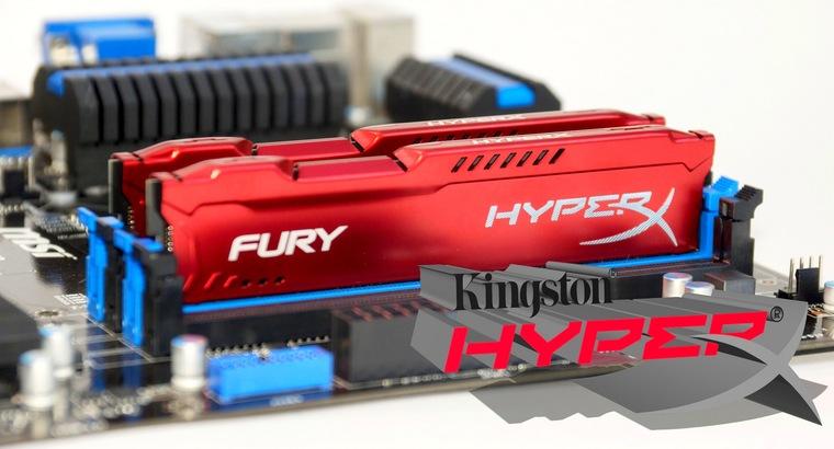 DDR3-1866 Kingston HyperX FURY HX318C10FRK - целых 16! Гигабайт оперативной памяти.
