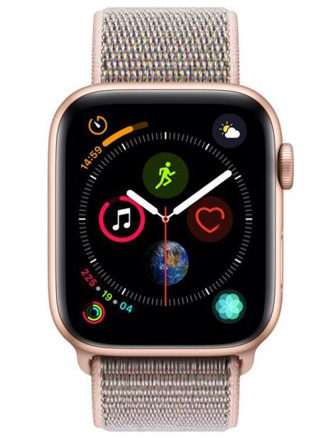 489e1e91 Купить Смарт-часы Apple Watch Series 4 GPS 44mm ремешок - золотистый ...