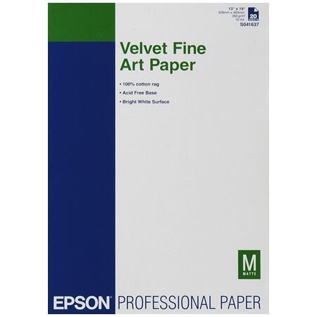 Купить Широкоформатная фотобумага Epson Velvet Fine Art Paper в интернет  магазине DNS