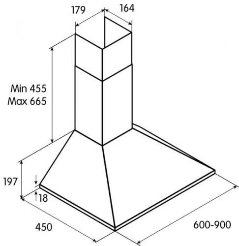 Вытяжка каминная Jetair Viki BL/A/60 черный