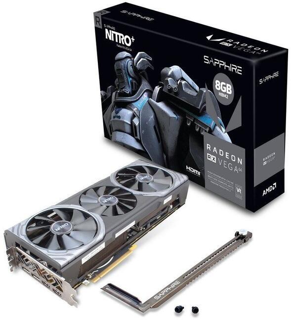 Видеокарта Sapphire RX 580 NITRO+ (11265-01-20G) 8Gb AMD RX 580/GDDR5/8000MHz/256 bit/PCI-E/ DVI DP HDMI
