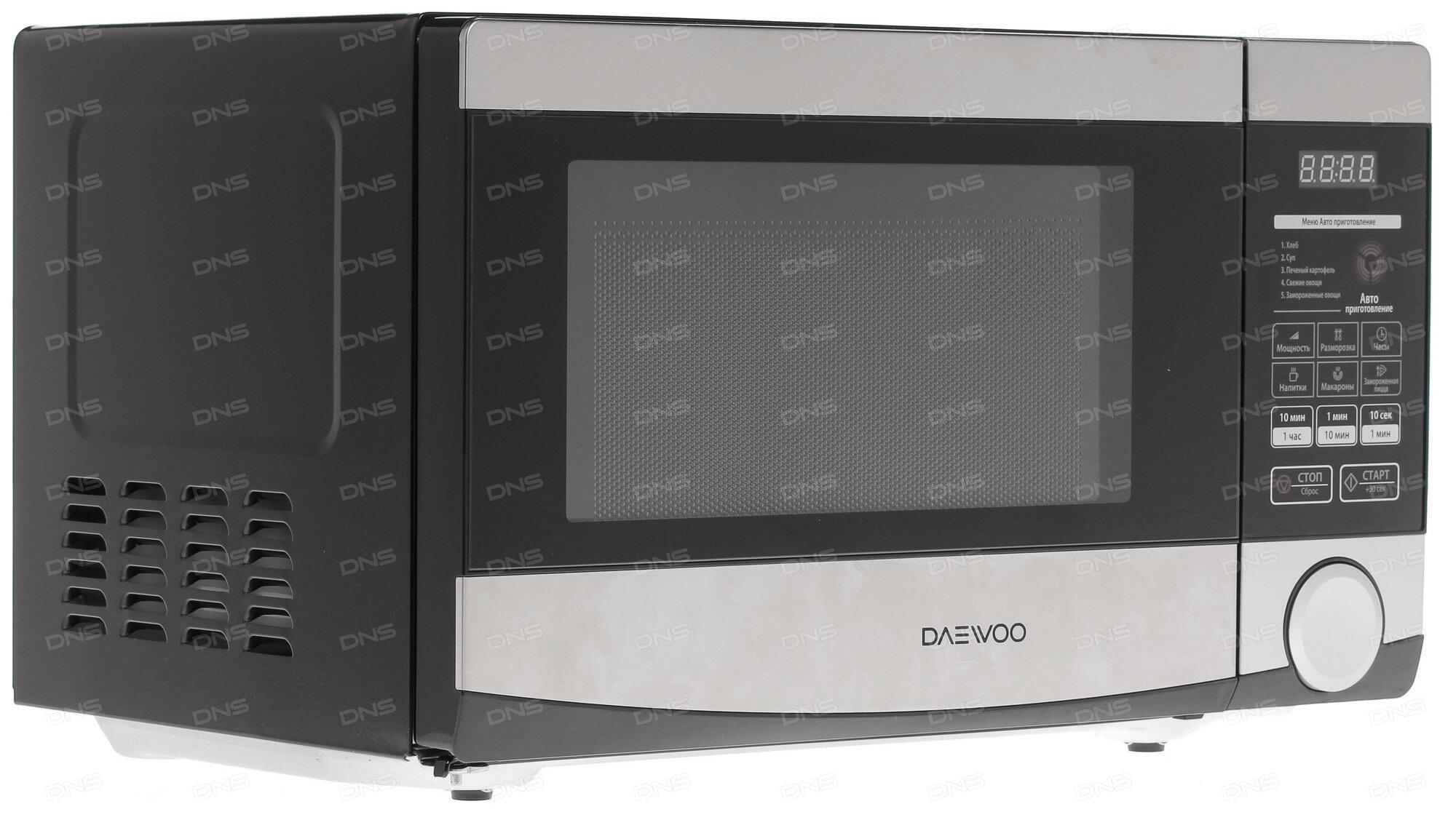 Микроволновая печь DAEWOO KQG-663D 700 Вт чёрный серебристый