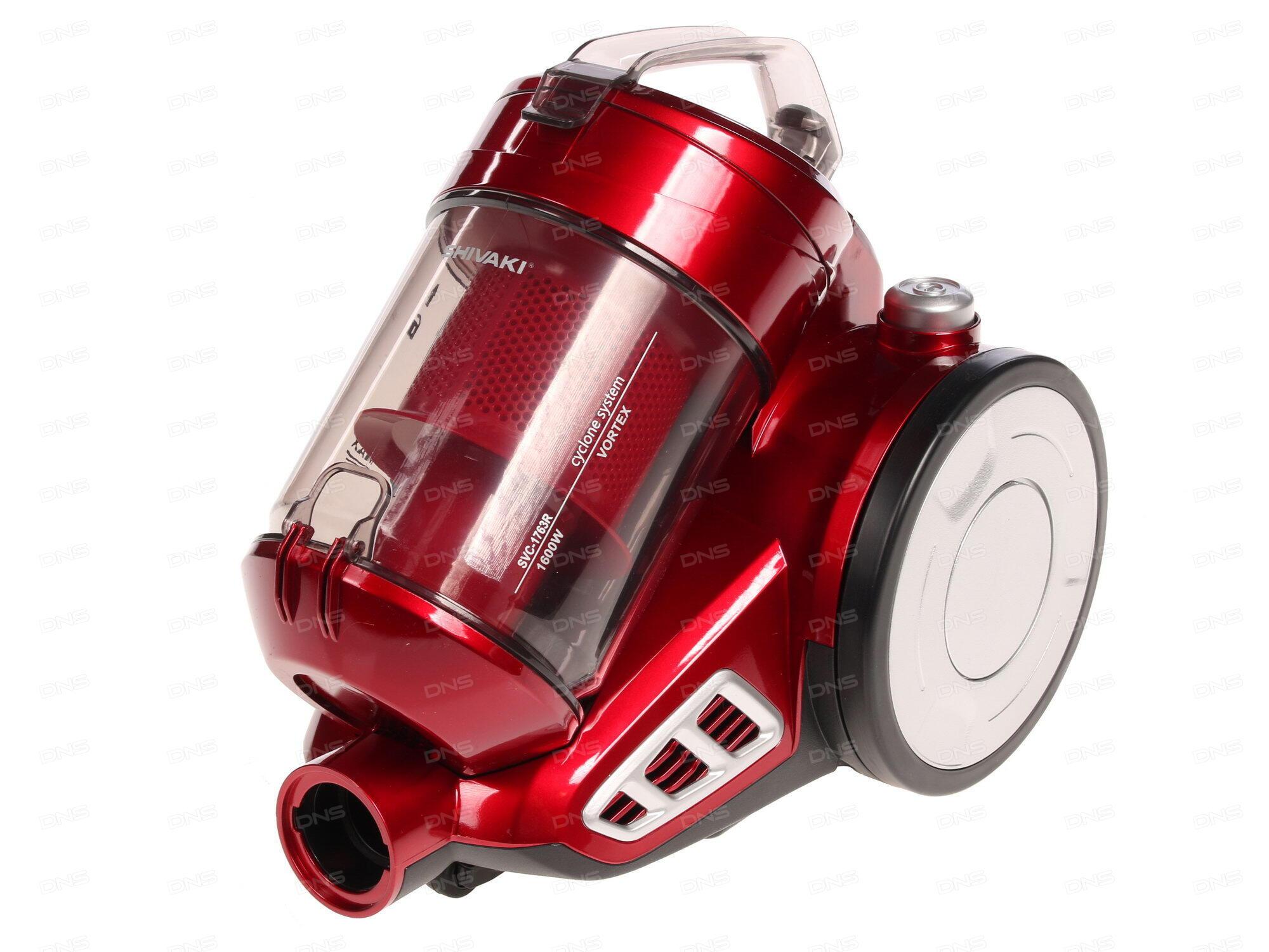 Пылесос LG VK76A06NDR сухая уборка красный серый
