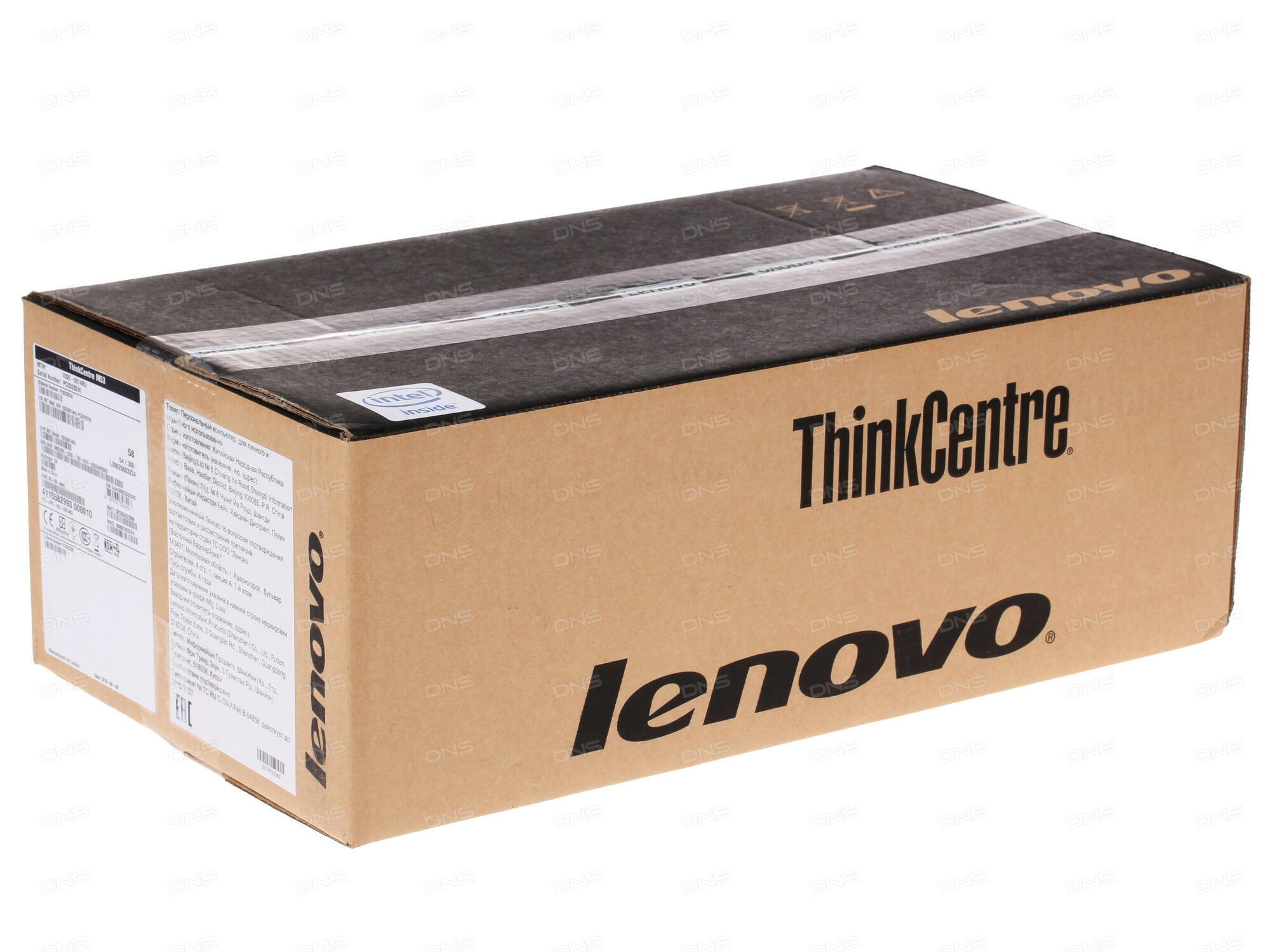 Неттоп Lenovo ThinkCentre M600 TINY slim 10GB000SRU Celeron J3060 (1.6)/2Gb/500Gb/Int:Intel HD/WiFi/BT/6xUSB 3.0/2xDP/LAN/Win 10 Black