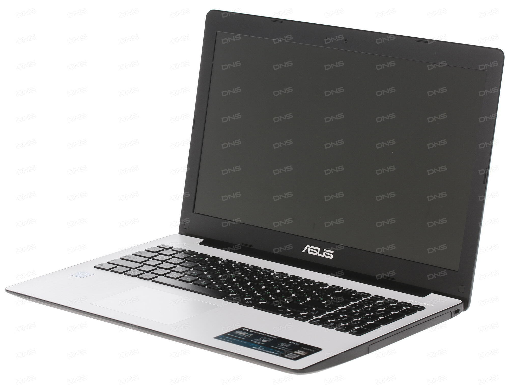 Ноутбук ASUS X553SA 90NB0AC1-M05820 (Intel Celeron N3050 1.6 GHz/2048Mb/500Gb/No ODD/Intel HD Graphics/Wi-Fi/Bluetooth/Cam/15.6/1366x768/DOS)