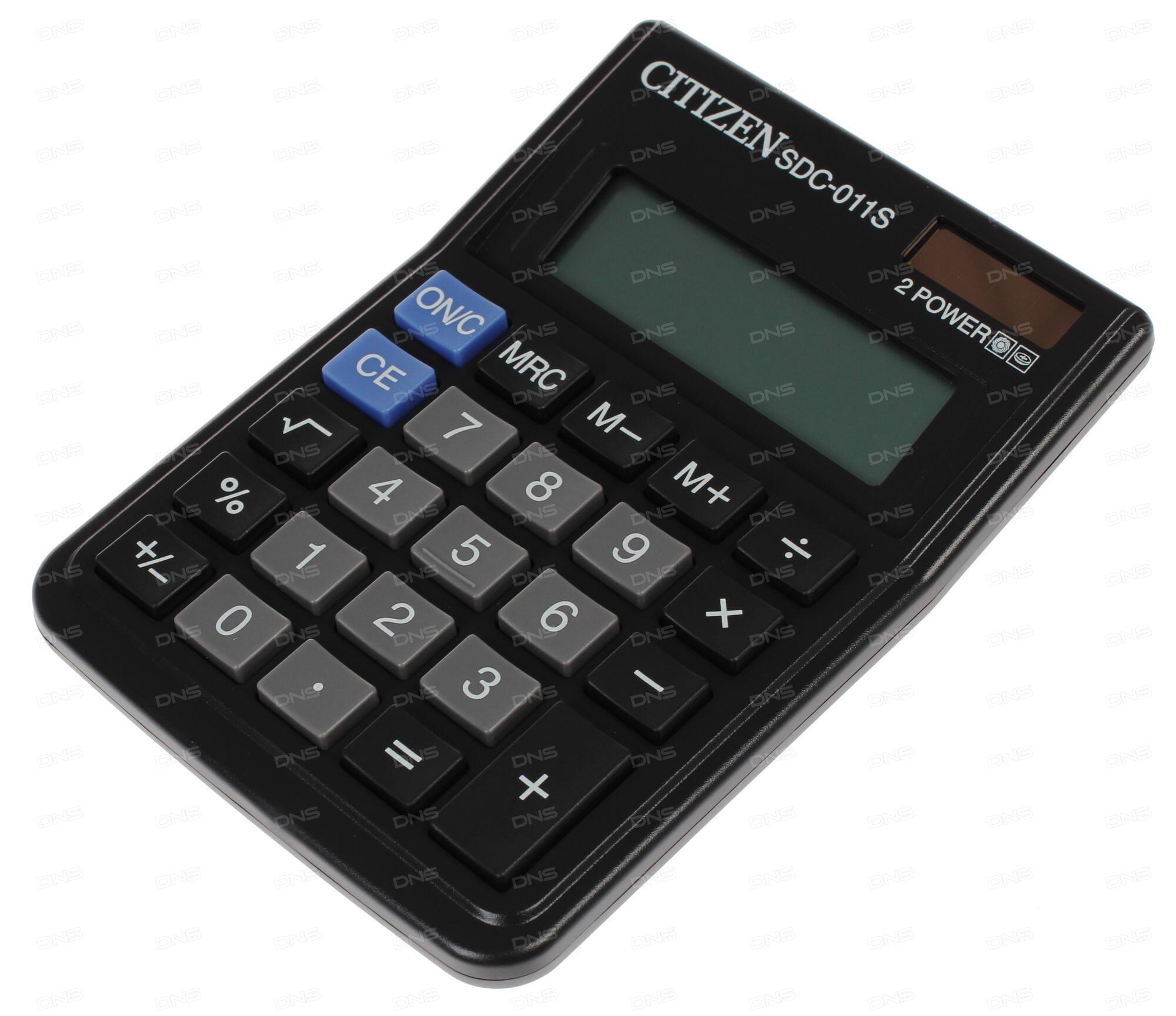 Калькулятор Citizen SDC-760N двойное питание 16 разряда настольный две памяти налог черный SDC760N