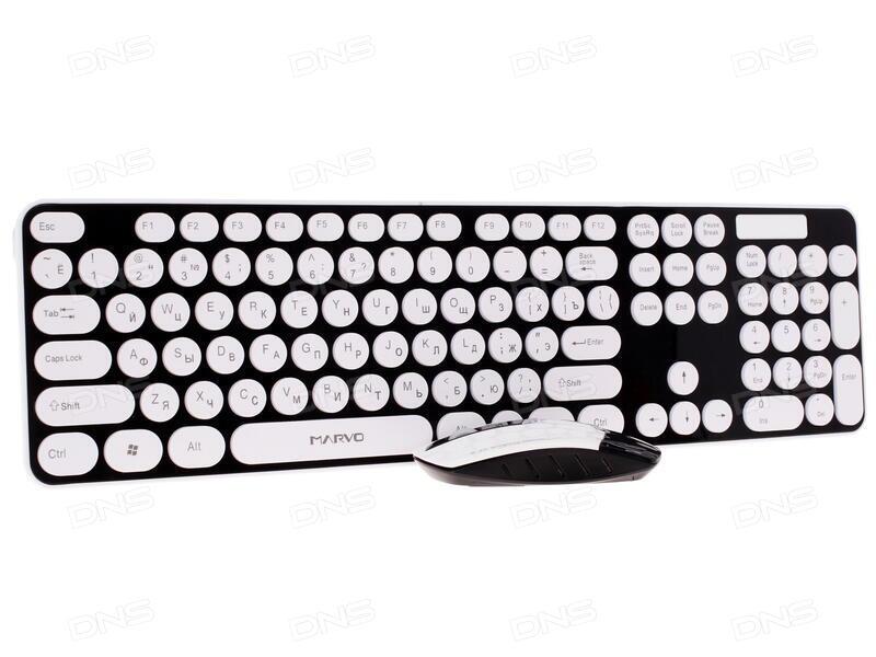 Клавиатура+мышь  A4Tech W 9200F USB (черный) 2.4G наноприемник