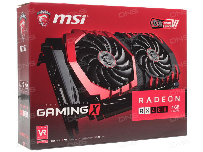 Купить Видеокарта MSI AMD Radeon RX 480 GAMING X [RX 480