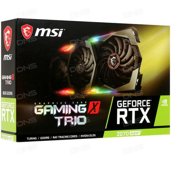 Купить Видеокарта MSI GeForce RTX 2070 Super GAMING X TRIO [RTX 2070 SUPER  GAMING X TRIO] в интернет магазине DNS  Характеристики, цена MSI GeForce