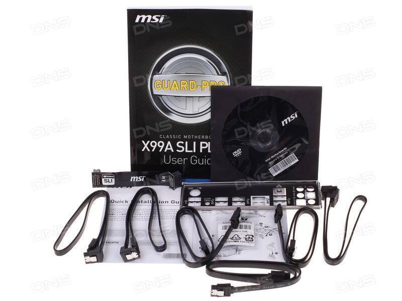 Технические характеристики Материнская плата MSI X99A SLI