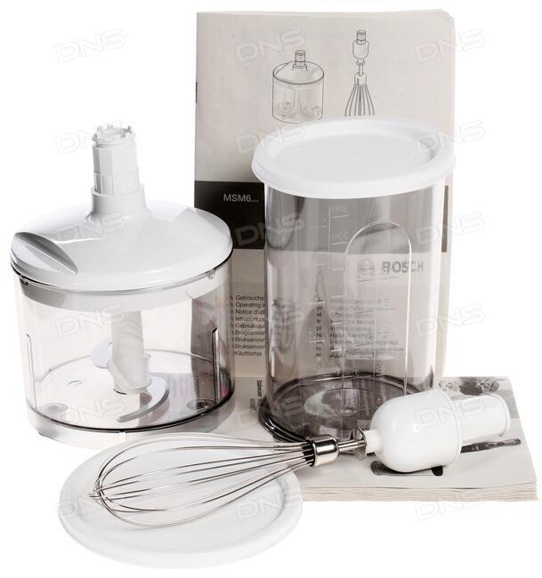 купить блендер Bosch Msm 66150 белый в интернет магазине Dns