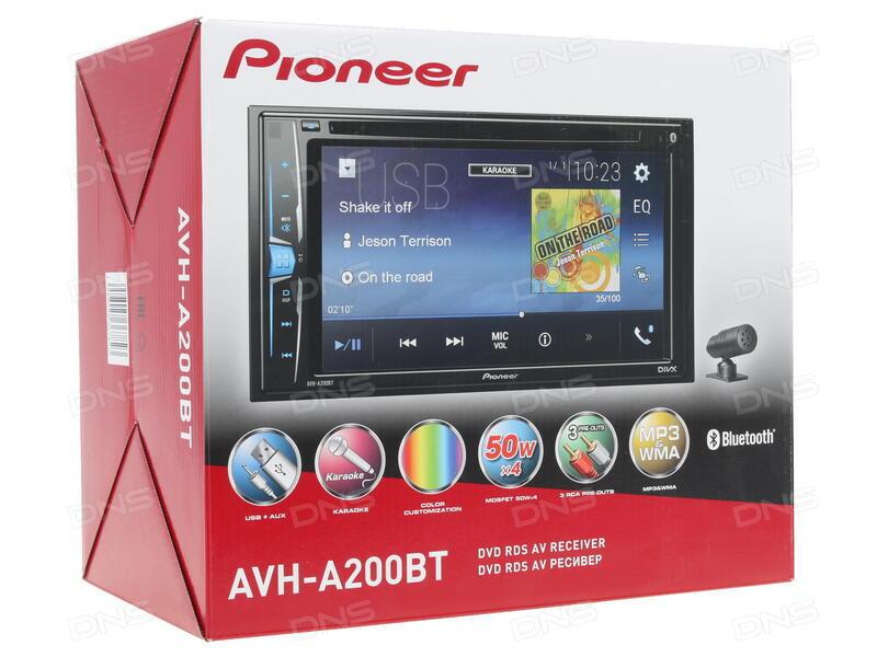 автомагнитола pioneer avh a200bt