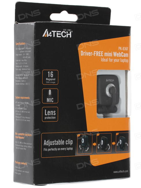 Driver UPDATE: A4Tech PK-836MJ Webcam