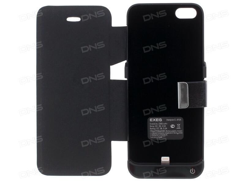 1093b3c83cff6 Купить Чехол-батарея Exeq для Apple iPhone 5/5S/SE черный в интернет ...