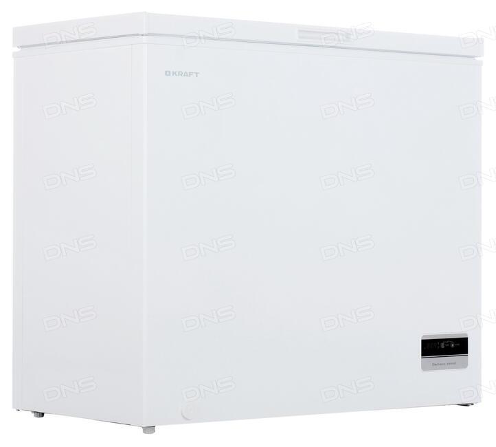 Купить Морозильный ларь KRAFT BD (W) 225 BL белый в интернет магазине DNS   Характеристики,