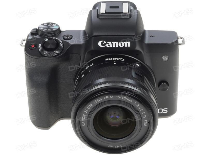 Купить Камера со сменной оптикой Canon EOS M50 kit 15-45mm IS STM черный в  интернет магазине DNS  Характеристики, цена Canon EOS M50 kit 15-45mm IS