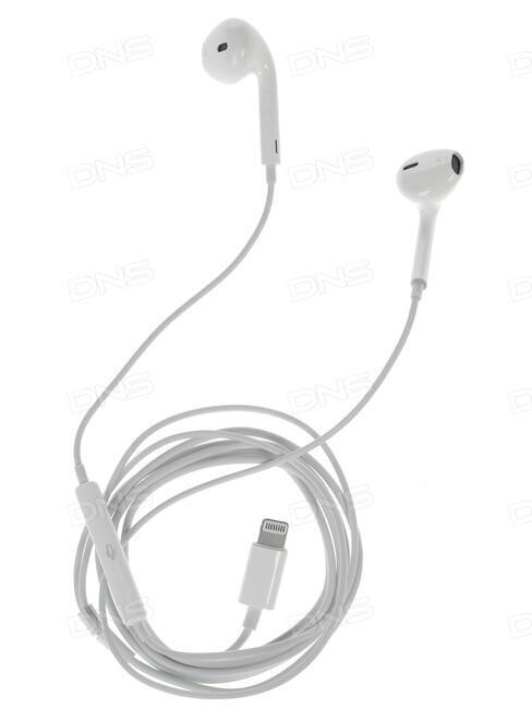 Купить Проводная стереогарнитура Apple EarPods (Lightning) белый в ... 46b958ff4e6e0
