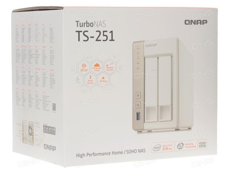 Купить Сетевое хранилище QNAP TS-251 в интернет магазине DNS