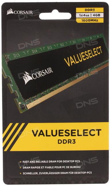Купить Оперативная память Corsair Value Select  CMV4GX3M1A1600C11  4 ... 1c1818016a1