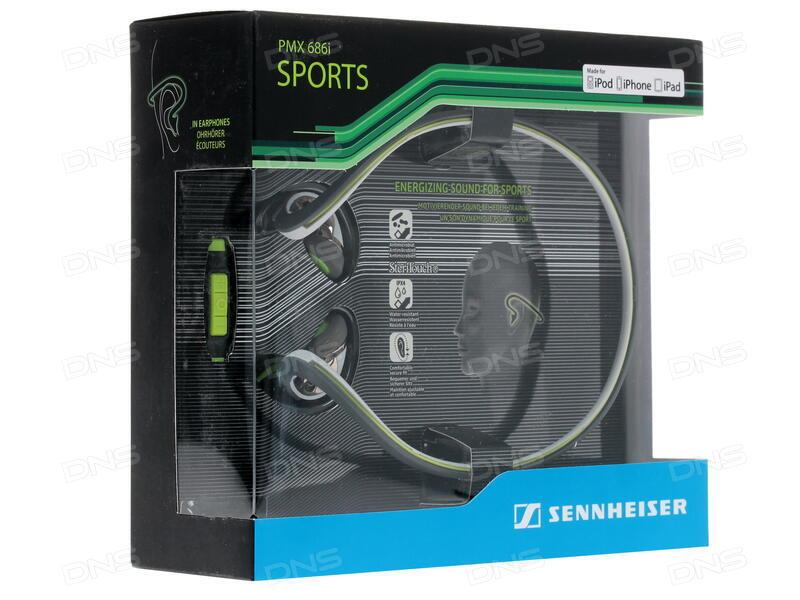 Купить Проводная стереогарнитура Sennheiser PMX 686I SPORTS зеленый ... d7f1b9f25af40