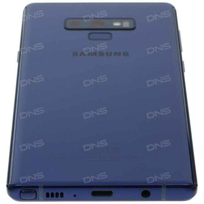 купить 64 смартфон Samsung Galaxy Note 9 128 гб синий в интернет