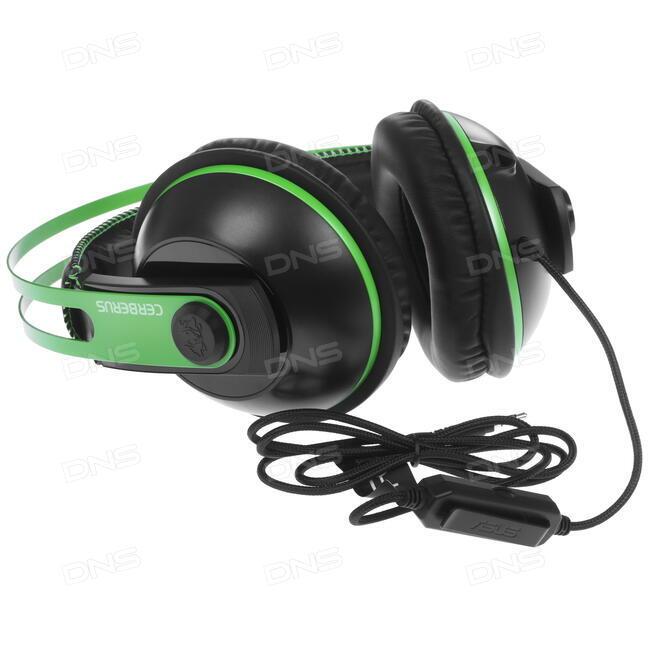 Купить Наушники Asus Cerberus V2 зеленый в интернет магазине DNS.  Характеристики 748452fba5af6