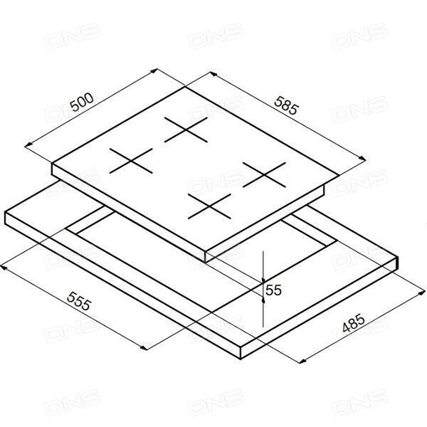 Закаленное стекло DF iColor-03 для iPhone 6 White