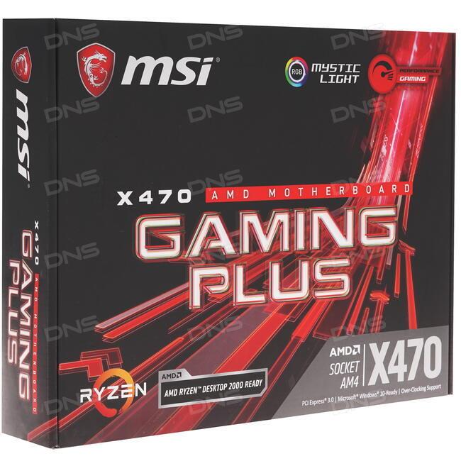 Купить Материнская плата MSI X470 GAMING PLUS в интернет магазине DNS   Характеристики, цена