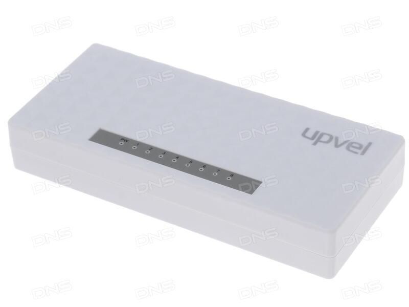 Коммутатор UPVEL US-8F 8-портовый коммутатор 10/100 Мбит/с пластиковый корпус