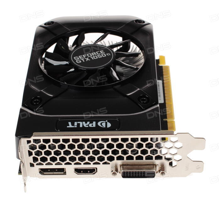 Купить Видеокарта Palit GeForce GTX 1050 Ti STORMX [NE5105T018G1-1070F] в  интернет магазине DNS