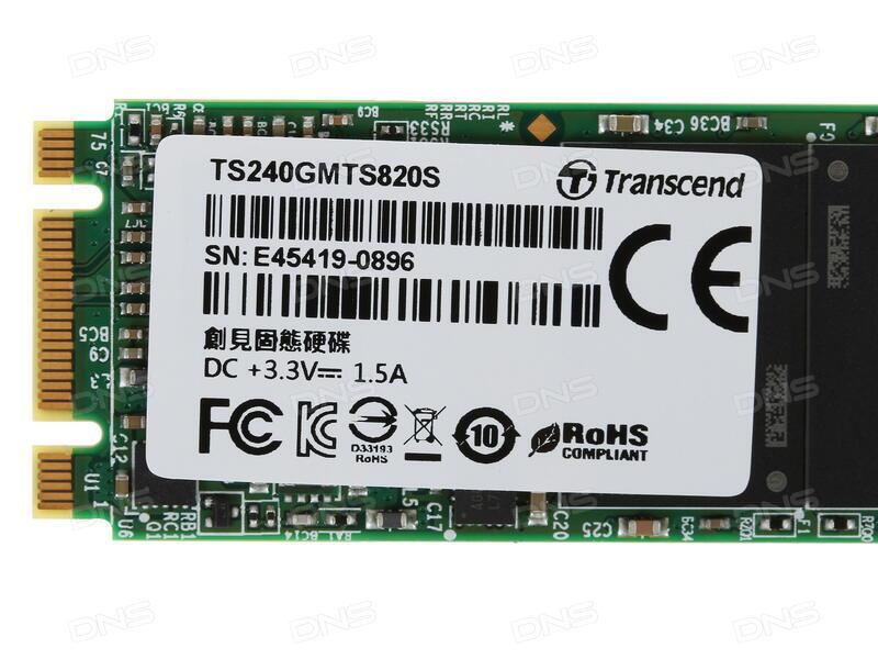 Купить 240 ГБ SSD M 2 накопитель Transcend MTS820 в интернет магазине DNS   Характеристики, цена Transcend MTS820 | 1077785