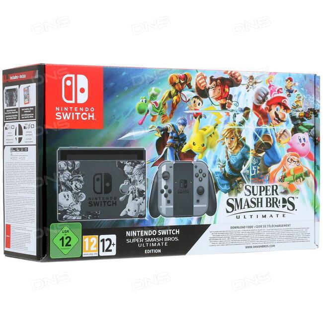 Купить Игровая приставка Nintendo Switch 32 GB + 1 игра в интернет магазине  DNS