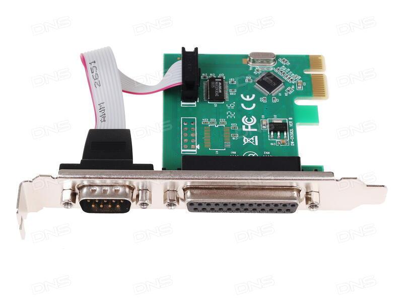 Контроллер ORIENT XWT-PE4S1PV2 PCI-E to COM 4-port + LPT 1-port (WCH CH384) oem