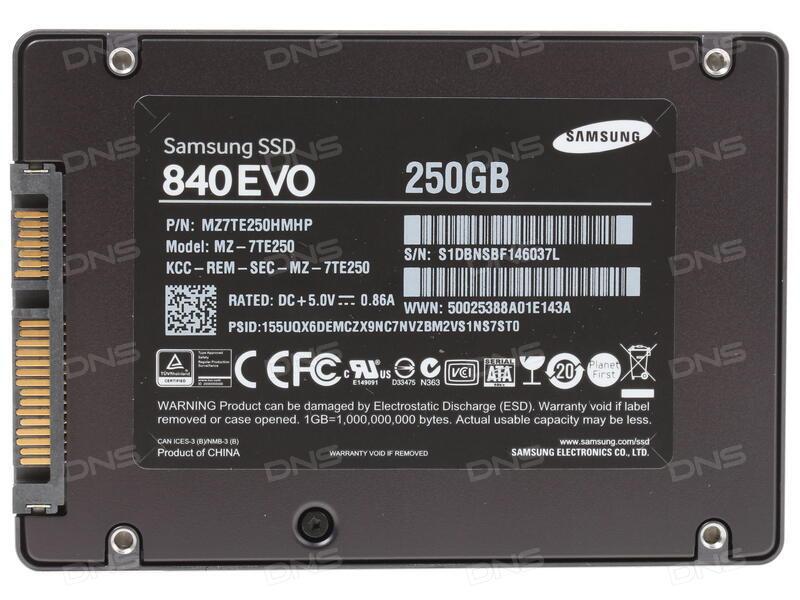 250 ГБ SSD-накопитель Samsung 840 EVO Basic [MZ-7TE250BW]