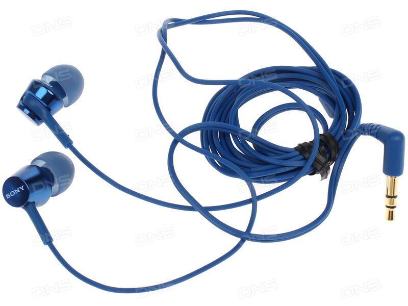 Технические характеристики Наушники Sony MDR-EX155L синий. Интернет ... b6bc445993847