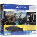 Купить Игровая приставка PlayStation 4 Slim Black 1 TB + 3 игры в интернет магазине DNS. Характеристики, цена PlayStation 4 Slim Black 1 TB | 1626724