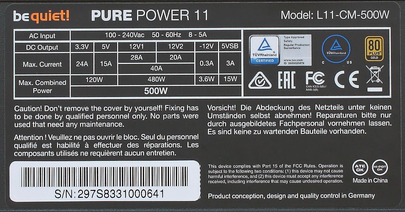 Kompyutery i komplektuyushcie - be quiet! Pure Power 11 500W – eshcyo odin shag k vershine