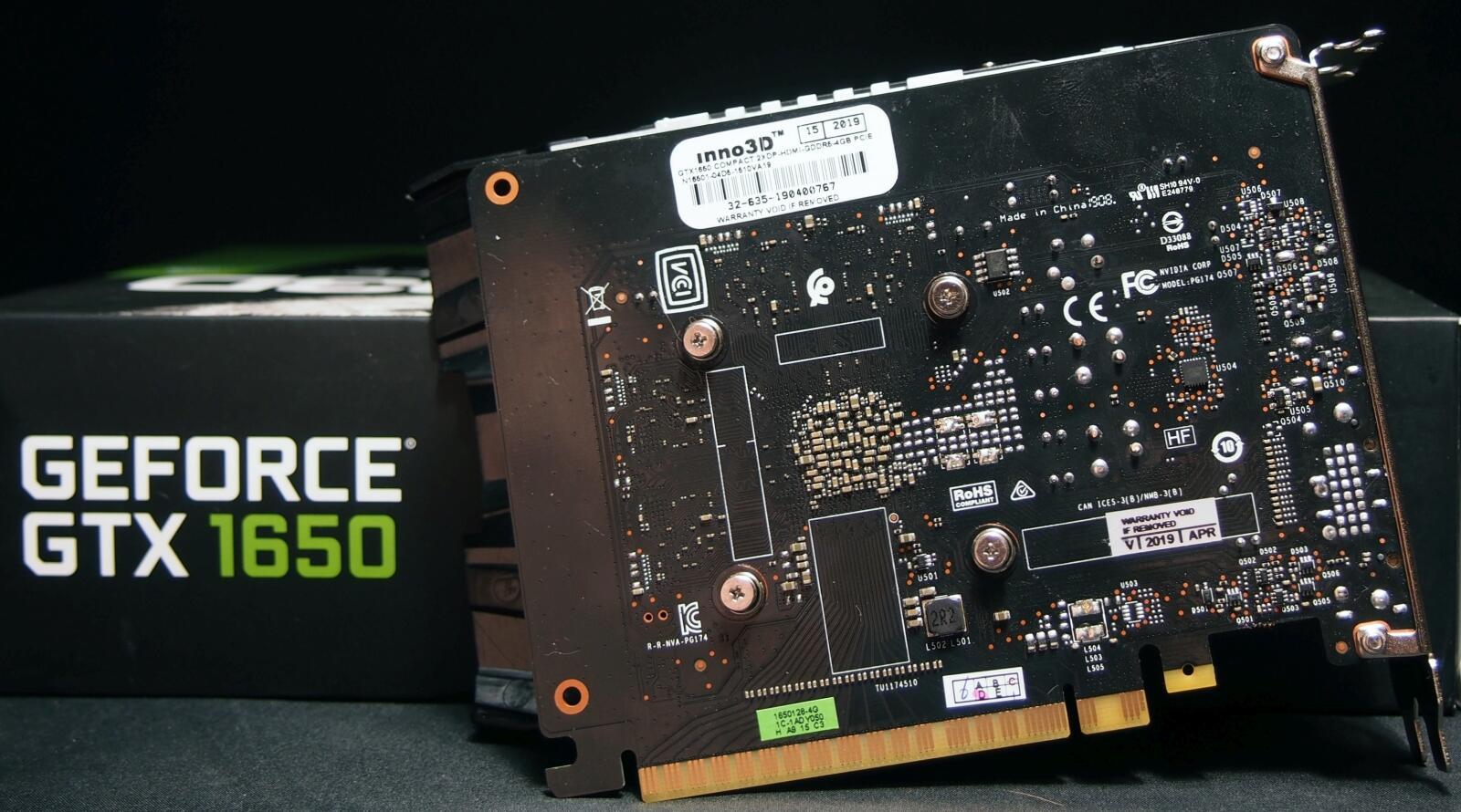 Videokarty - Obzor videokarty Inno3D GeForce GTX 1650 COMPACT [N16501-04D5-1510VA19]