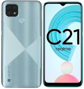 "6.5"" Смартфон realme C21 32 ГБ голубой"