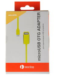 Кабель OTG InterStep IS-DC-COTGMFTYL-000B201 USB-host - micro USB желтый