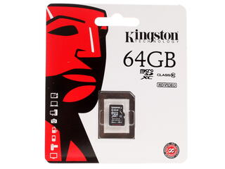 Карта памяти Kingston SDCX10/64GBSP microSDXC 64 Гб